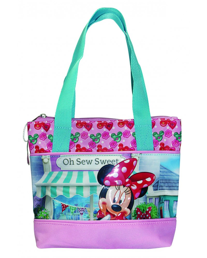 Sac shopping Minnie devant sa boutique