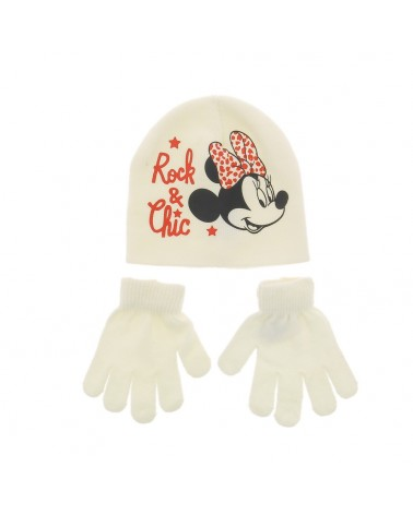 Set bonnet/gants Minnie Rock et Chic