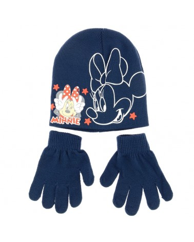 Set bonnet et gants Minnie grimaçante