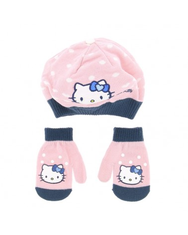 Set béret/gant élégant et chaud fille Hello kitty