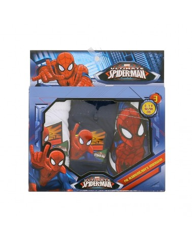 Lot de 3 slips spiderman 100% coton