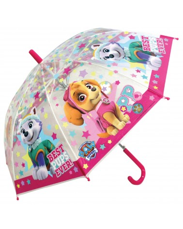 Parapluie transparent Pat Patrouille fille transparent