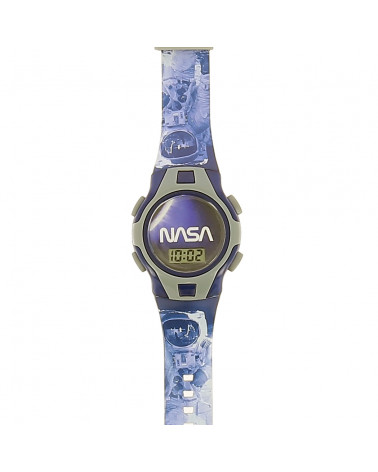 Montre digitale NASA bleue...