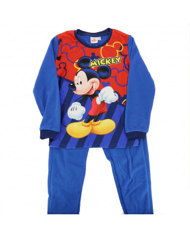 Pyjamas long Mickey en polaire